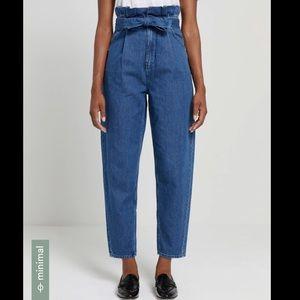 Frank and Oak paperbag jeans